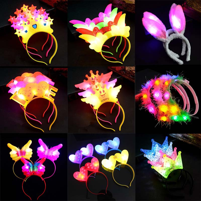 Light Up LED Unicorn Horn Headband Bachelorette Party Favor Costume Accessory