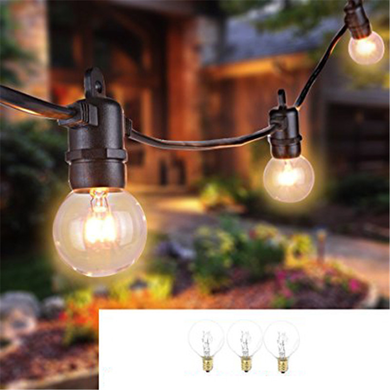 ARILUX 7.62M 25 G40 Globe Bulbs String Lights Outdoor Waterproof Ball String Light for Party Patio Garland Wedding 8 8m g40 globe string lights bulbs outdoor waterproof patio lights copper wire led holiday lights ball wedding home decoration