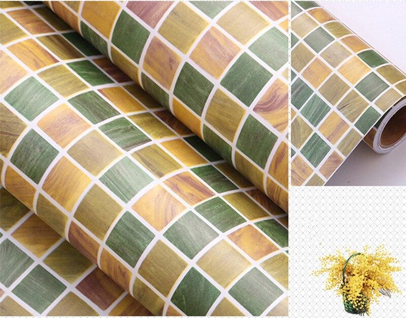 Carta Da Parati Adesiva Bagno : ᗕ0.45 m * 1 m verde adesivo carta da parati del pvc adesivi da