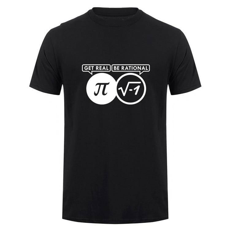 Be Rational Get Real Nerdy Geek Pi Nerd T Shirts Men Cool Math Nerd T Shirts Fashion Funny Men T-shirts