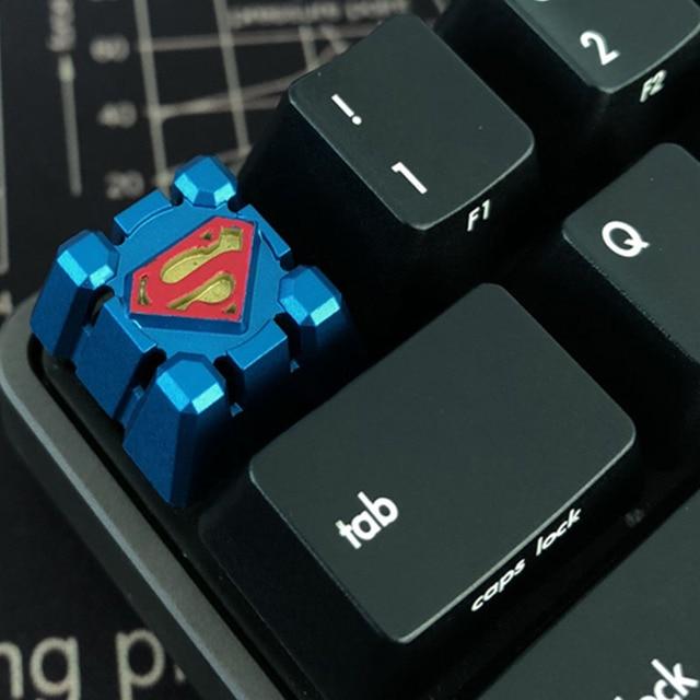 Para Superman Cereja Interruptores MX Keycap Keycap Teclado Mecânico de Metal Personalizado ESC