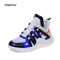 SWYIVY Women Running Shoes Mesh Breathable High Top Sneakers 2018 Lace Up Mixed Color Super Light