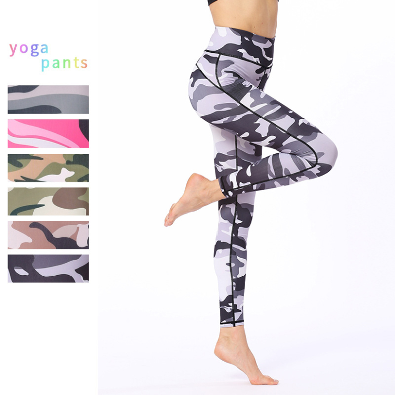 Pantalons de Yoga Leggings de Sport femmes Fitness étiré imprimé Leggings de Yoga Femme entraînement collants de course Jogging Femme pantalon