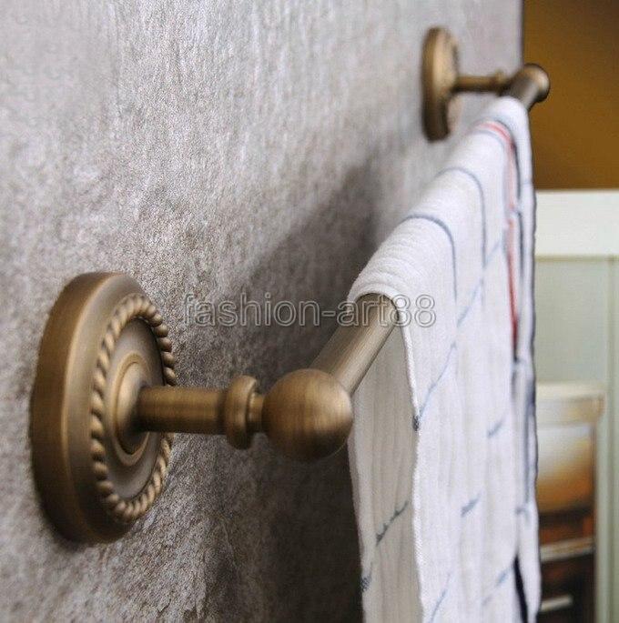 ФОТО Antique Brass Bathroom Accessory Wall Mounted Single Towel Bar Towel Rail Rack Holder Bathroom Fitting aba085