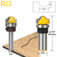 RCT 1 4 8mm 1 2 Shank Molding Arc Router Bit Trimming Milling Cutters For Woodworking