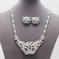 Real Austrian Crystal Rhinestone Brand Leopard Animal Necklace Earring Sets Women Jewelry Set SN3014 Clearance Sale