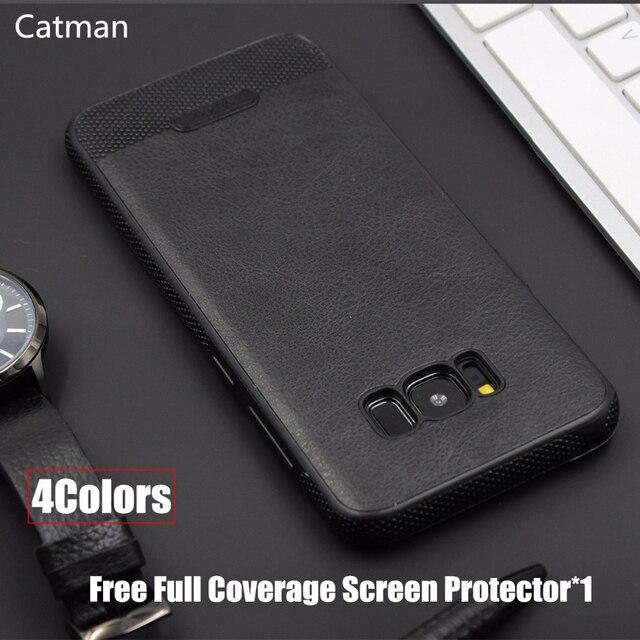 Для samsung galaxy s8 case оригинальный catman новый дизайн микки серии бизнес стиль полное покрытие soft case s8 плюс s8plus case