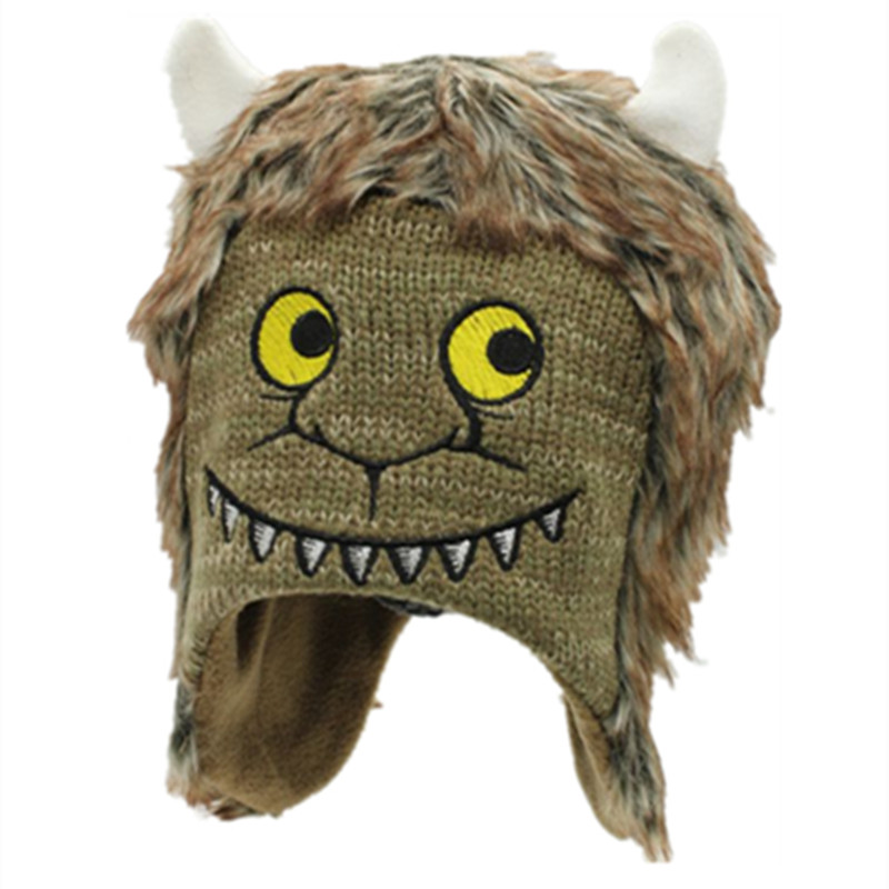 Where The Wild Things Are Wolf Max Records Cosplay Costume Kids Children Halloween Monsters Hats Beanies Photo Photography Caps