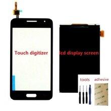محول الأرقام بشاشة تعمل بلمس الاستشعار شاشة الكريستال السائل شاشة لسامسونج غالاكسي كور 2 SM G355H/DS G355H G355F