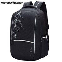 VICTORIATOURIST 15.6 inch laptop backpack men/ fashion male backpacks/computer back pack /travel bag for boy male V8008 black