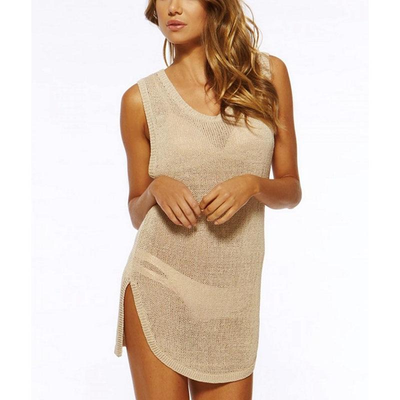 2020 Knited Tunics For Beach Crochet Bikini Cover Up Swimwear Cover Up Women Beach Pareo Bathing Suit Cover Ups Beachwear
