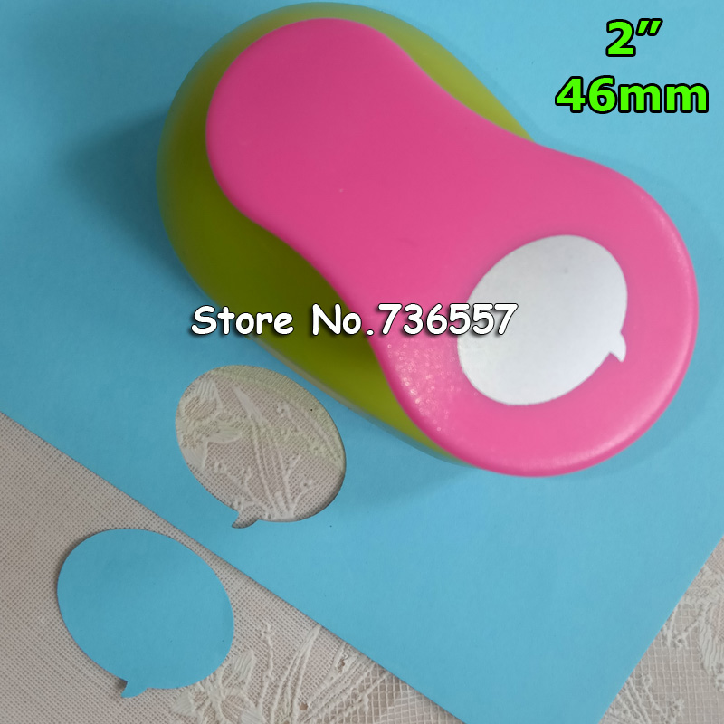 free shipping 2 inch (4.6cm) Dialog box design craft punch paper hole punches for DIY scrapbooking punches eva foam punch free shipping 10pcs bag 2mm thickness craft punches child sticker single sided adhesive glitter eva foam sheet eva sponge