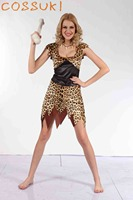 Halloween Adult Sexy Female Leopard Print Primitive Society Savage Cosplay Costume For Stage Performance Or Masquerade