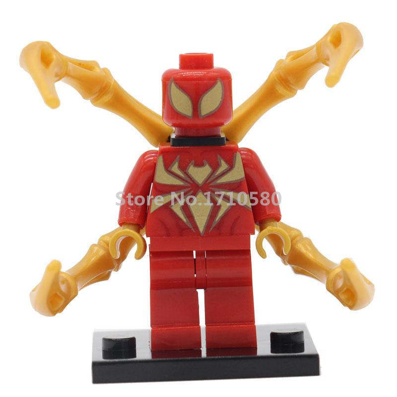 Wholesale 50pcs XINH 216 Marvel Super Heroes <font><b>Iron</b></font> <font><b>Spider-Man</b></font> Figures Single Sale Marvel Building Blocks Models Toys