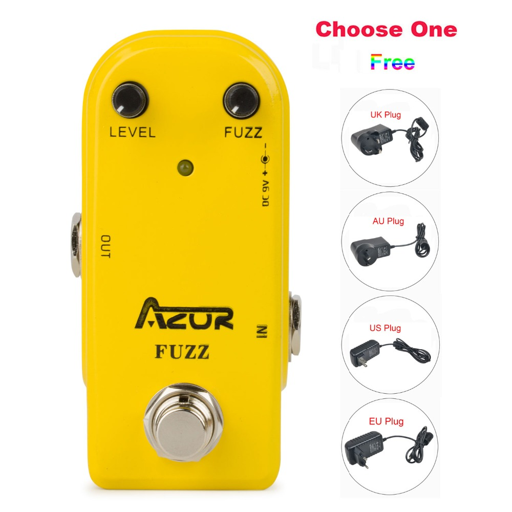 AP-310 Fuzz Guitar Effect Pedal with Ture Bypass+9V1A Adapter and 8 Heads Multi-interface Effects Connecting Cable mooer ensemble queen bass chorus effect pedal mini guitar effects true bypass with free connector and footswitch topper