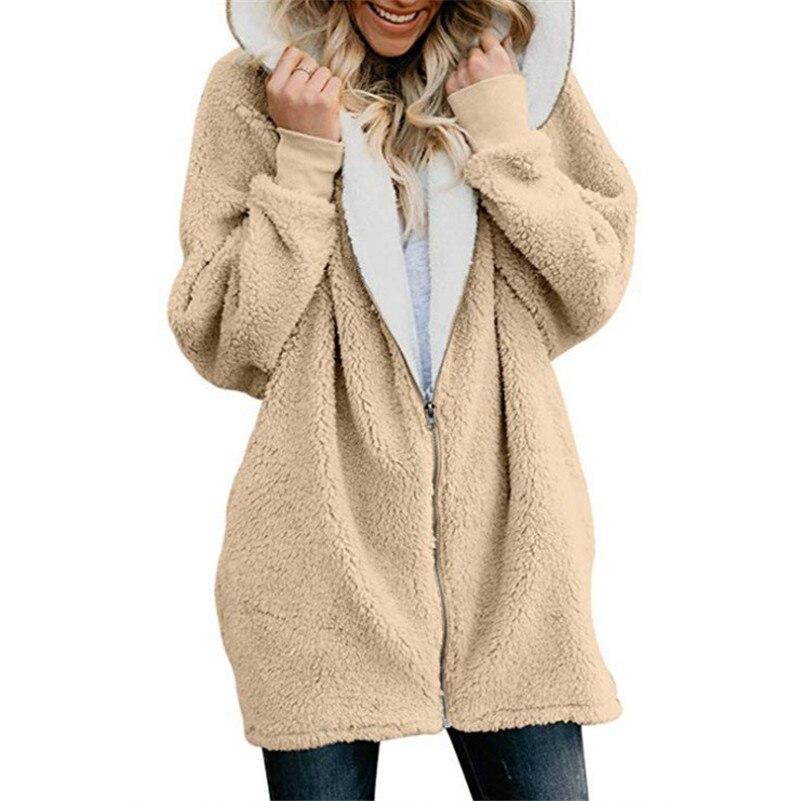 Russian Hot Women's Sweater Coat Solid Color Autumn Winter New Fashion Wool Fleece Zipper Cardigan Warm Plush Sweaters 11 Colors