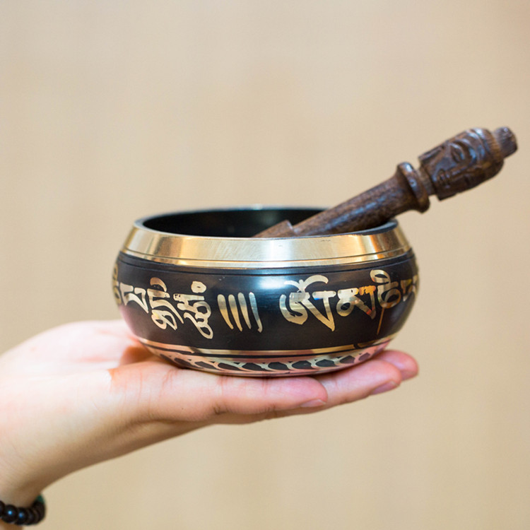wholesale buddha supplies # HOME family efficacious protect# Tibet handmade Tibet ode Gilding Buddha bowl brass statue