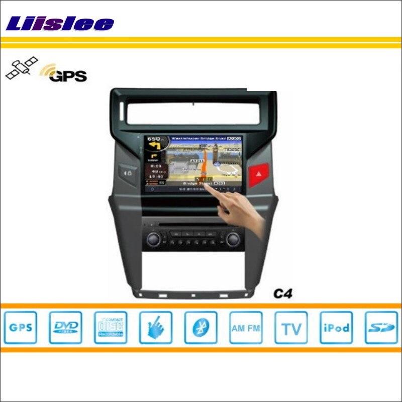 Liislee Car DVD Player GPS Nav Map Navigation For Citroen C4 2013~2014 Radio TV iPod Bluetooth HD Screen S160 Multimedia System