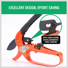 HORUSDY Metal Labor-saving Garden Ratchet Pruning Fruit Tree Pruning Shears  8 inch Gardener Pruner Cutting Tool Pruning Scissor