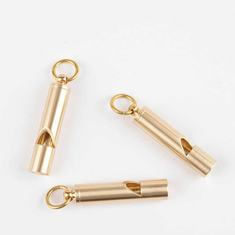 LẠI Khẩn Cấp Tồn Tiếng Còi Phiên Bản Lớn Cao Decibel Brass Kim Loại Tre Hình Dạng Phần Còi Sản Phẩm Ngoài Trời EDC công cụ D335