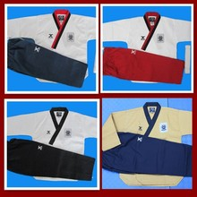 цена на Lucamino promotional JCALICU taekwondo training uniforms J-calicu poomsae practice clothes Male/Female tae kwon do uniforms