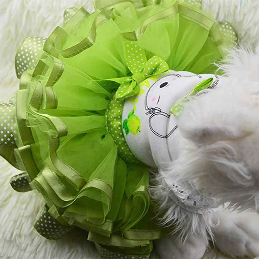 Трансер собака платье костюм для животного собачье свадебное платье юбка летняя Роскошная принцесса одежда для домашних животных фруктовый дизайн 4,19