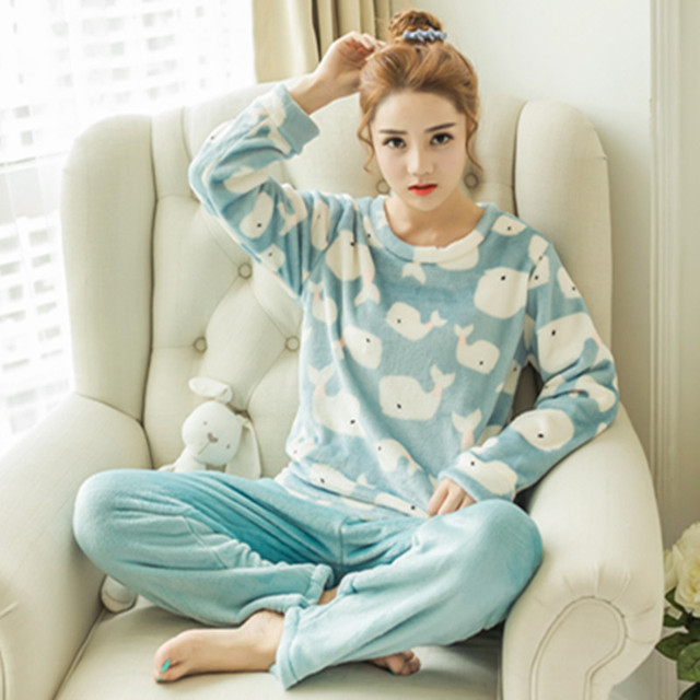 5c57c88ec Cute Panda Bear Pyjamas Women and Man Home Clothes Pajamas for Women Warm Coral  Fleece Pajamas