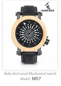 Bobo pássaro amantes vestido relógios de madeira