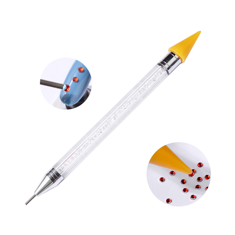 Dual-ended Nail Dotting Pen Crystal Beads Handle Rhinestone Studs Picker Wax Pencil Manicure Nail Art Tool #1