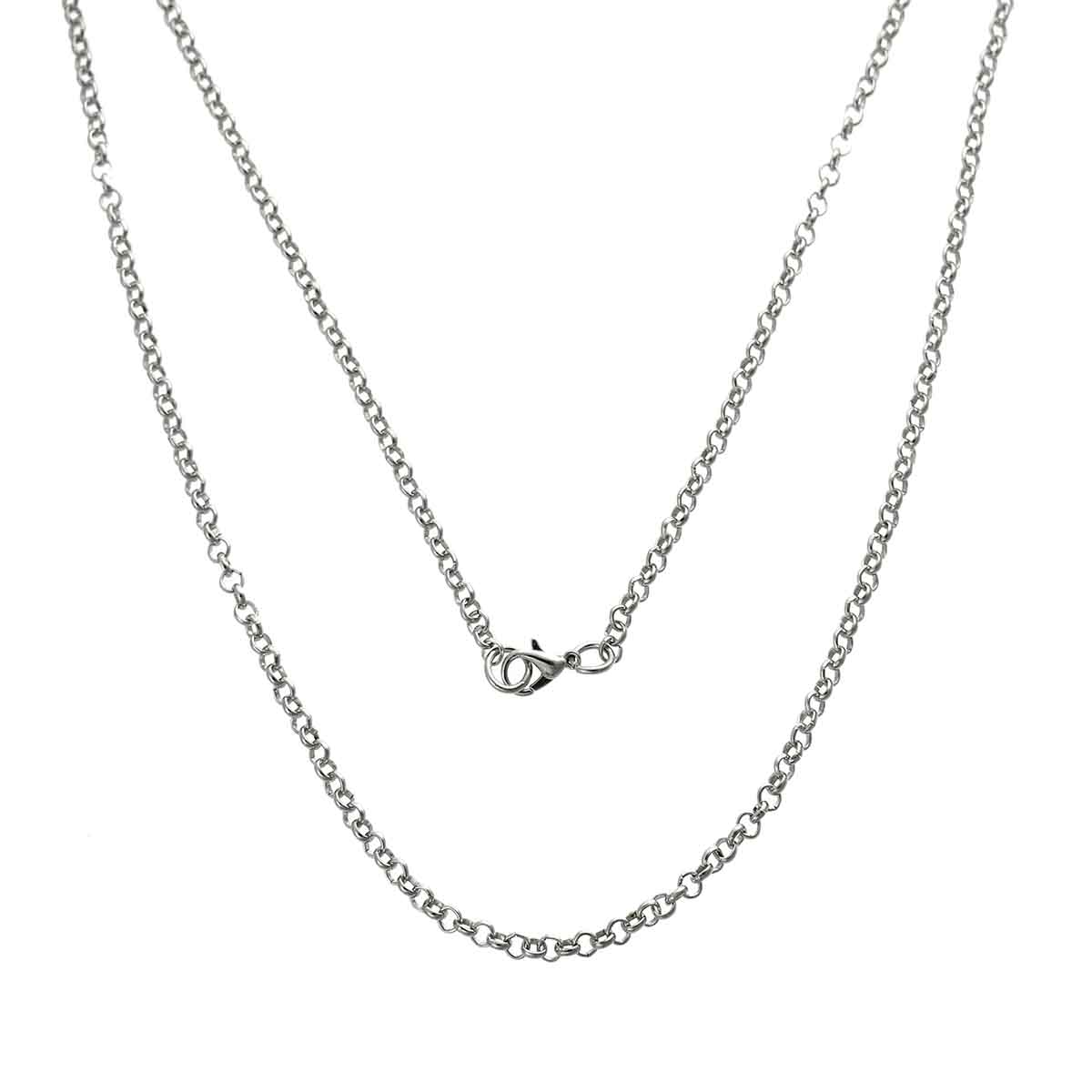 MJARTORIA 1PC Long Cross Chain Gold Silver Palted Chain For Jewelry Making DIY Necklace Women Men Hand Made Supplies For Jewelry