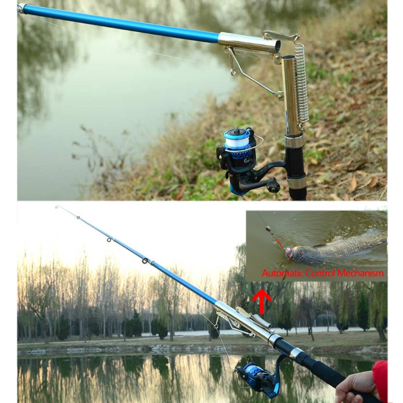 Automatic Fishing Rod Sea River Lake Fish Pole Spring Holder 2.1m 2.4m 2.7m Sensitive Fishing Pole Device Fishing Tackle Rods