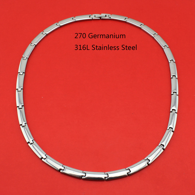 2017 New Hot Sell Men/Women 270 Germanium Energy 316L Stainless Steel Therapy Power Necklace Birthday Gift TG0-270 Free Shipping