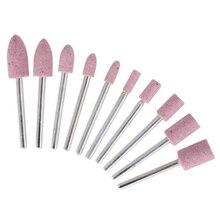 10 pièces/ensemble pierre montée Abrasive pour Dremel outils rotatifs meulage pierre tête de roue Dremel outils accessoires
