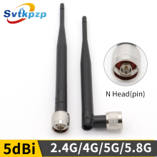 High Gain 5dBi N Head Male Connector 2.4g WIFI Antenna Omni-directional Whip Aerial 5G 4G Antenna for Router