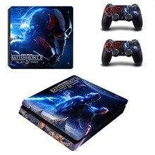 Star Wars Battlefront 2 PS4 тонкий кожи Стикеры Наклейка виниловая для Playstation 4 консоли и 2 контроллеры PS4 тонкий кожи Стикеры