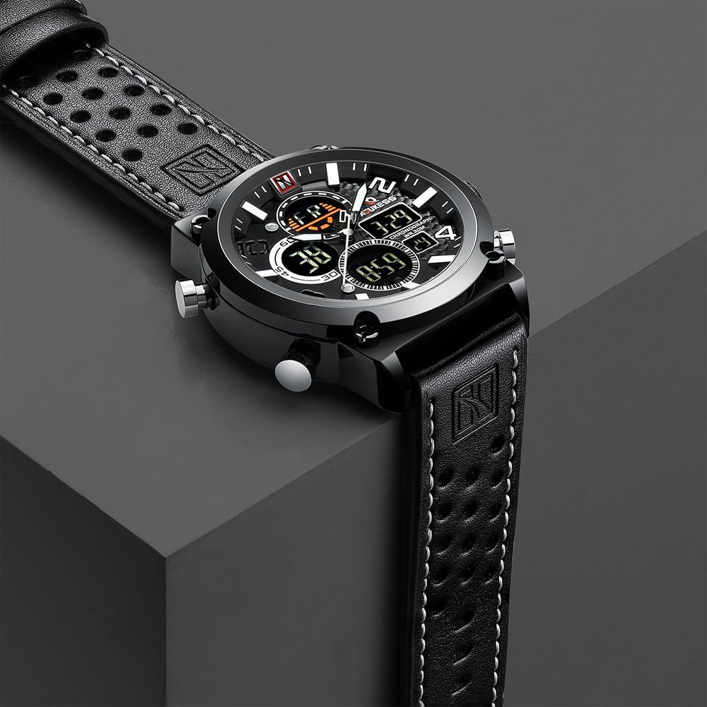 De Lujo reloj masculino de los hombres relojes impermeable reloj hombre Deporte reloj de pulsera para hombre hora de cuarzo militar hombre reloj 2019