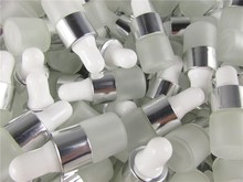 100 adet/grup 1ml 2ml 3ml 5ml açık buzlu cam damlalık şişe kavanoz şişeleri için pipet ile kozmetik parfüm uçucu yağ şişeleri