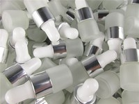 100pcs/lot 1ml 2ml 3ml 5ml Clear Frosted Glass Dropper Bottle Jars Vials With Pipette For Cosmetic Perfume Essential Oil Bottles