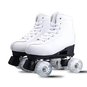 Skating-Shoes Roller-Skates 4-Wheels Two-Line Adult Women PU with White Artificial