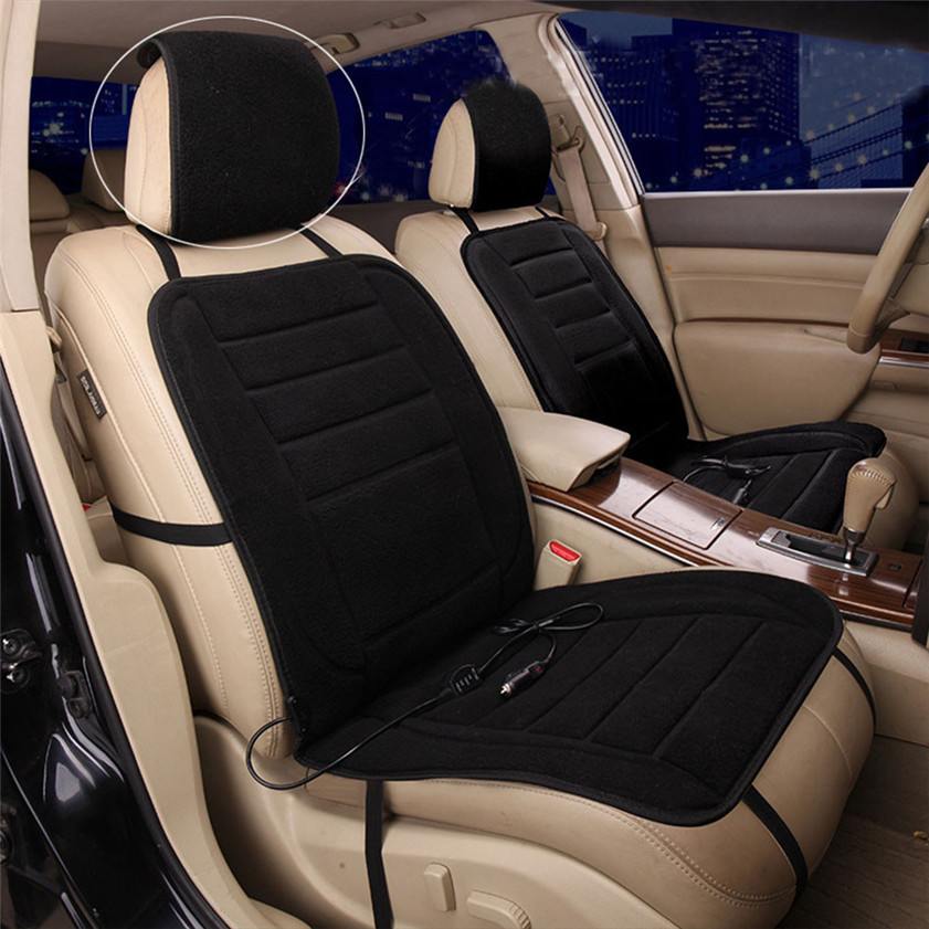 New arrival 2017 Car styling Black Car Heated Seat Cushion Cover Auto 12V Heating Heater Warmer Pad Winter