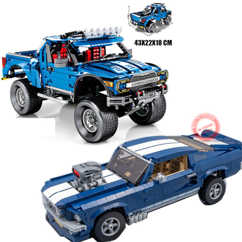 New Technic Ford F 150 Raptor Pickup truck fit technic car Ford mustang building blocks bricks