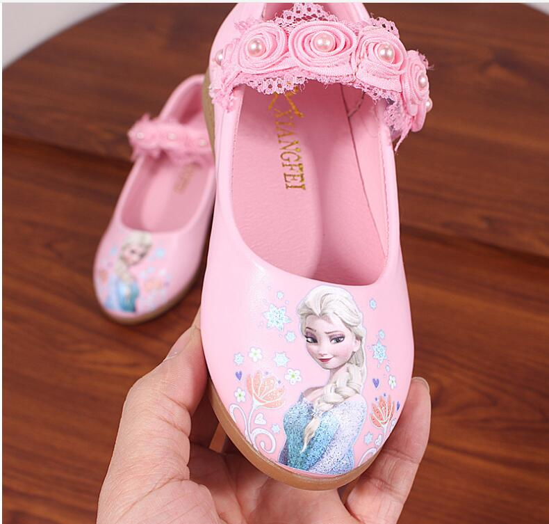 Fashion Princess Girls Shoes For Kids Fashion Elsa Anna Kids Shoes Ice Snow Queen Casual Children Shoe Girl Sneakers White Flat
