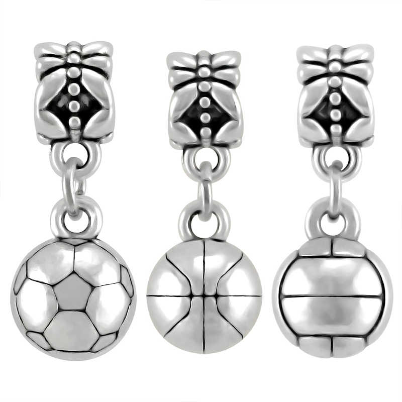 44758a079 ... Silver Color Sport Dumbbell Charms Pendant Fit Pandora Charm Beads  silver 925 original Bracelet DIY Fashion ...