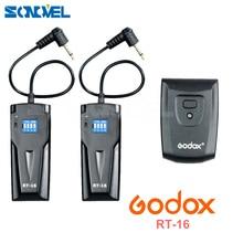 GODOX Kablosuz Stüdyo Fotoğraf Flaş Tetik RT 16 Canon Nikon + 2 * Alıcısı Set Canon Nikon SLR Kamera Için