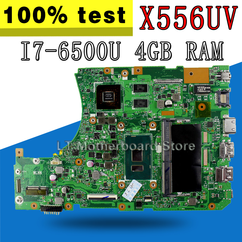 REV:3.1 X556UV Motherboard i7-6500U 4GB DDR4 slots For ASUS X556UB X556UJ X556UR A556U K556U Laptop motherboard X556UV Mainboard