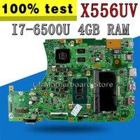REV:3.1 X556UV Motherboard i7 6500U 4GB DDR4 slots For ASUS X556UB X556UJ X556UR A556U K556U Laptop motherboard X556UV Mainboard