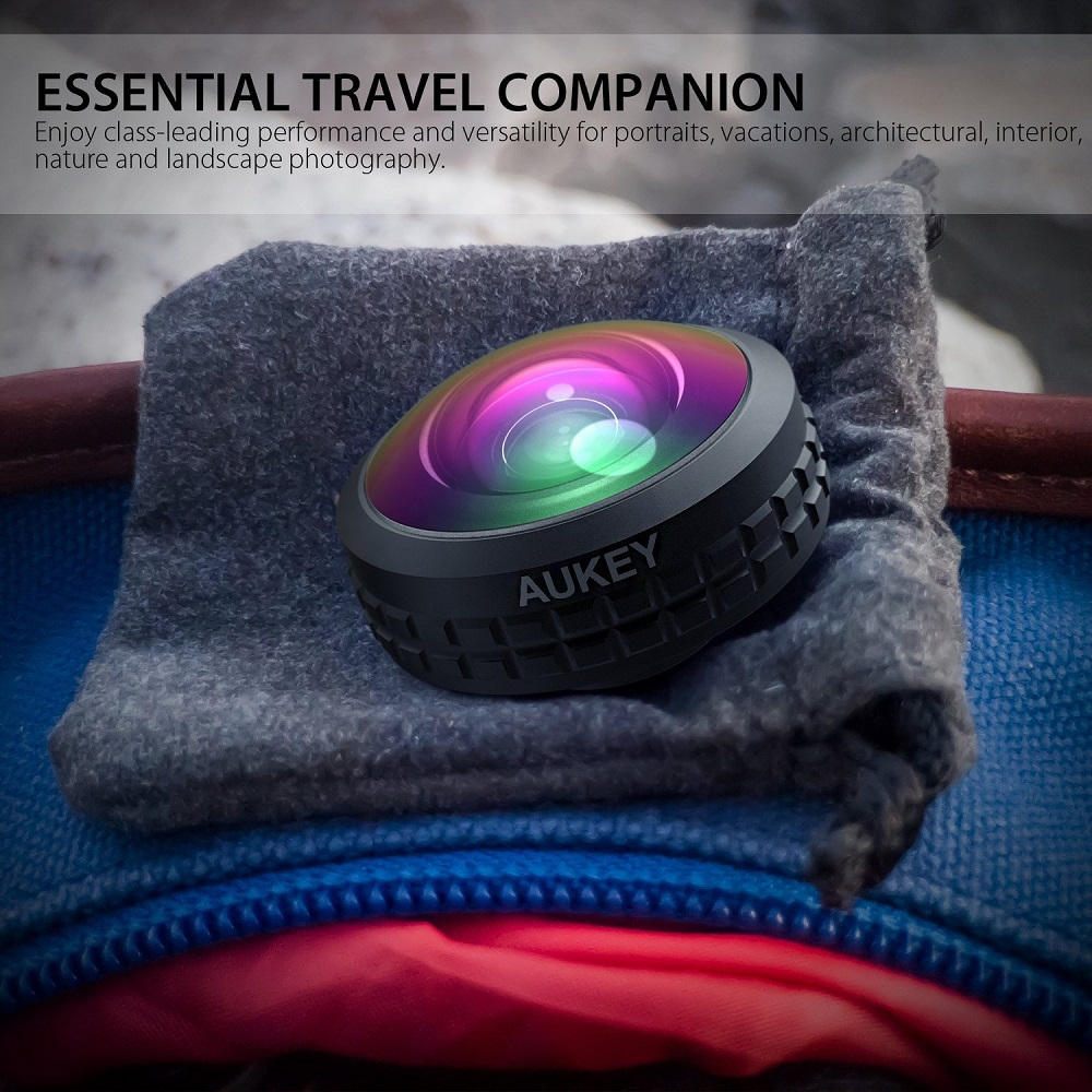 AUKEY Optic Pro Lens Super Wide Angle 238 Degree High Clarity telefon kamera lensi Camera Lens Kit for iPhone Android Smartphone 10