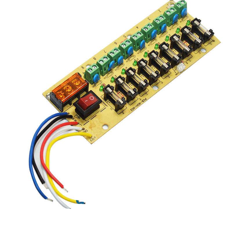 5 Pcs 12 V 9-way PCB bloco de terminais da placa de distribuição de energia DC para fonte de alimentação de comutação de energia elétrica atual fiação interruptor LEVOU