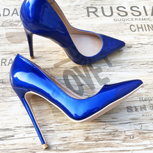 Free shipping  fashion women pumps Casua royal blue patent leather printed pointed toe high heels shoes 12cm 10cm 8cm Stiletto free shipping fashion women pumps casual green patent leather printed pointed toe high heels shoes 12cm 10cm 8cm stiletto heels