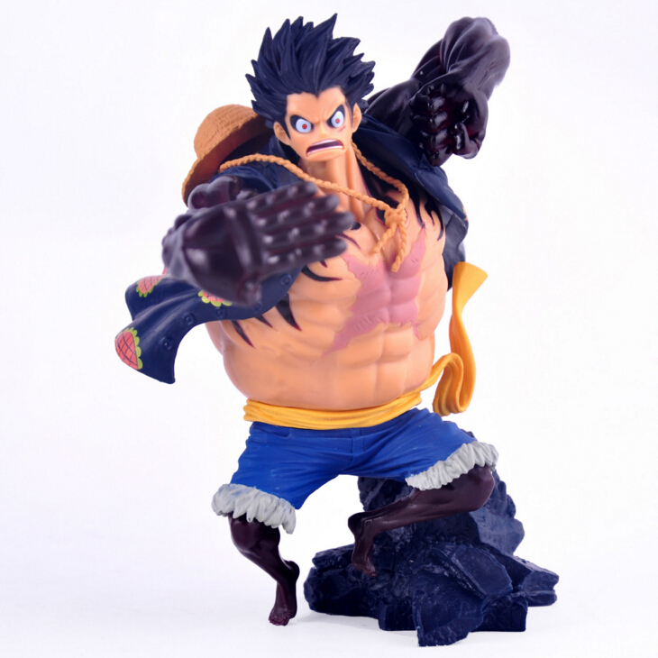 2017 anime one piece pvc kids action figure cool 17cm Monkey D Luffy gear 4 cartoon movie boy model hand toy brinquedos juguetes